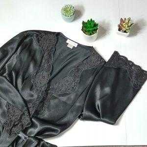 Jones New York | Satin Full Length Robe Black